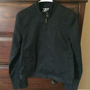 Volcom Size Small Black Zip Front Jacket